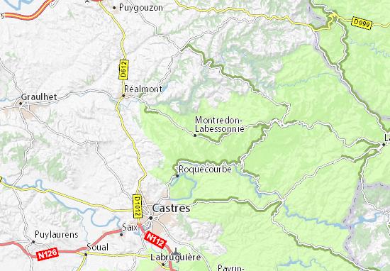 Kaart Plattegrond Montredon-Labessonnié