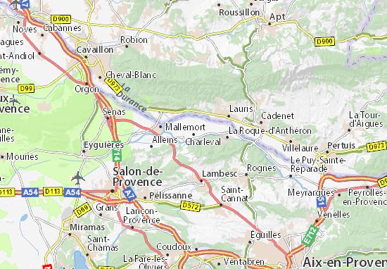 Mapas-Planos Charleval