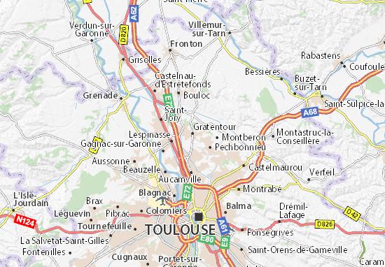 Karte Stadtplan Gratentour