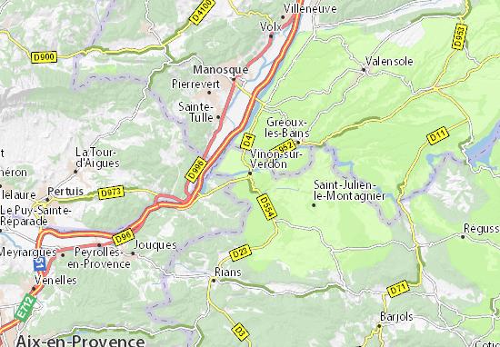 Mapa Plano Vinon-sur-Verdon
