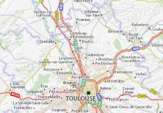 Mapa Plano Bruguières