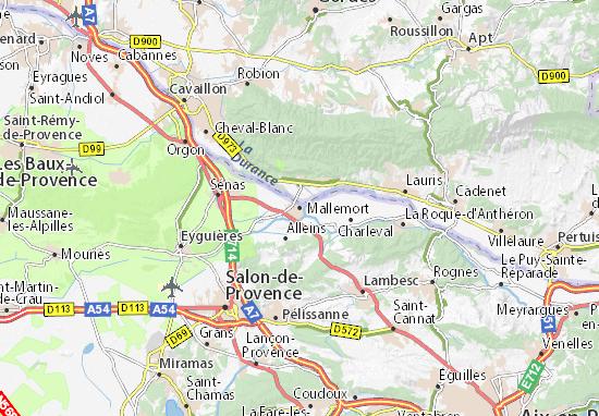 Karte Stadtplan Mallemort