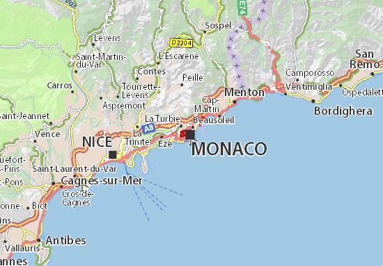 Karte Stadtplan La Condamine