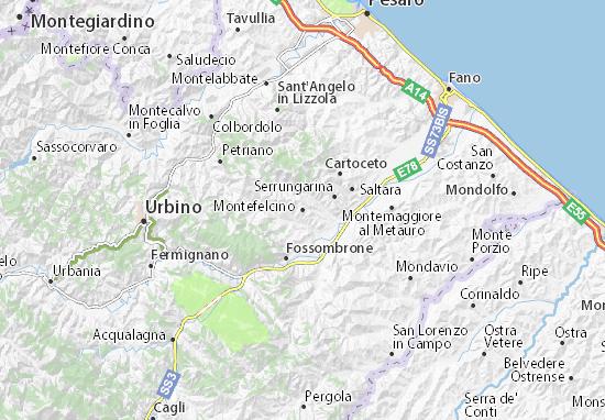 Mappe-Piantine Montefelcino