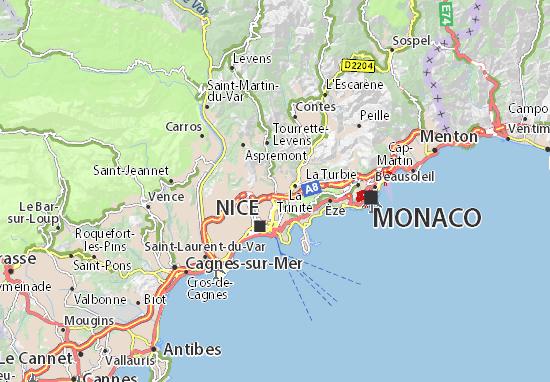 Kaart Plattegrond Saint-André-de-la-Roche