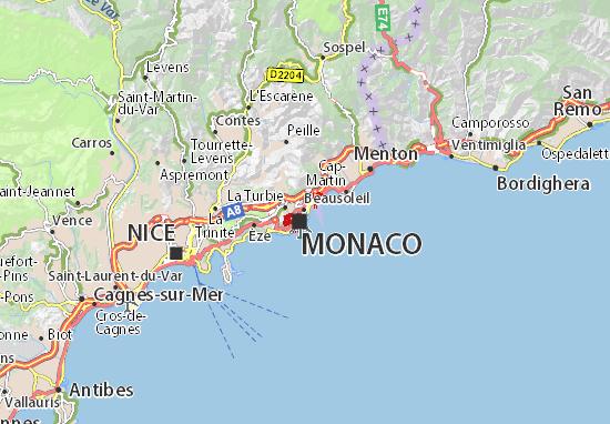 City Map Of Monte Carlo Monaco