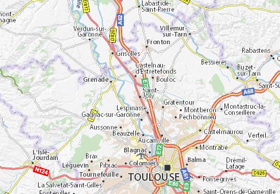 Carte-Plan Saint-Jory