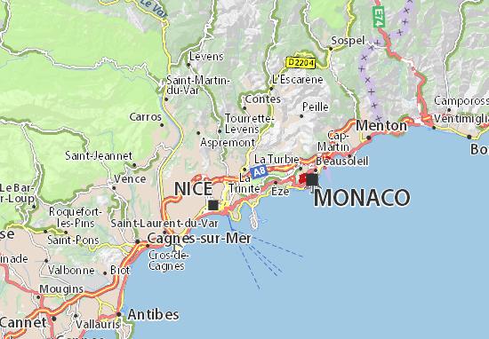 Kaart Plattegrond La Trinité