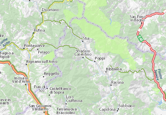 Mappe-Piantine Strada in Casentino