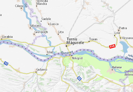 Turnu Măgurele Map