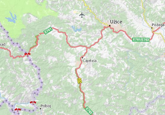 Čajetina Map