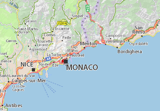 Karte Stadtplan Cap Martin