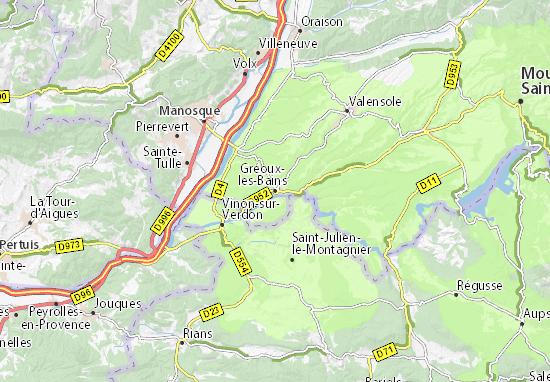 Karte Stadtplan Gréoux-les-Bains