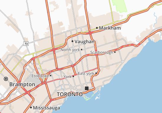 Canada Map North York MICHELIN North york map   ViaMichelin