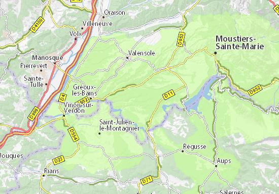Karte Stadtplan Lauris