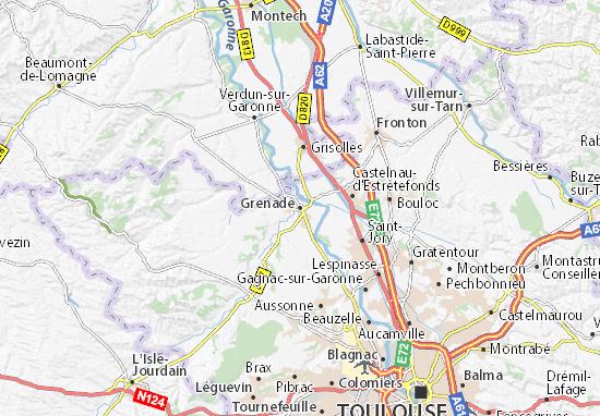 Karte Stadtplan Grenade