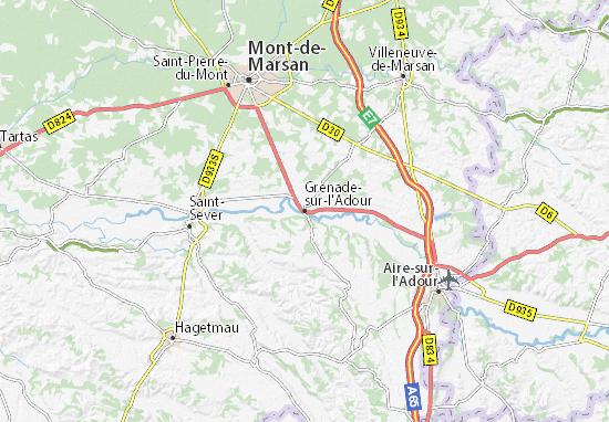 Carte-Plan Grenade-sur-l'Adour