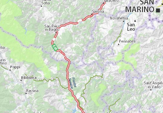 Mappa Balze - Cartina Balze ViaMichelin