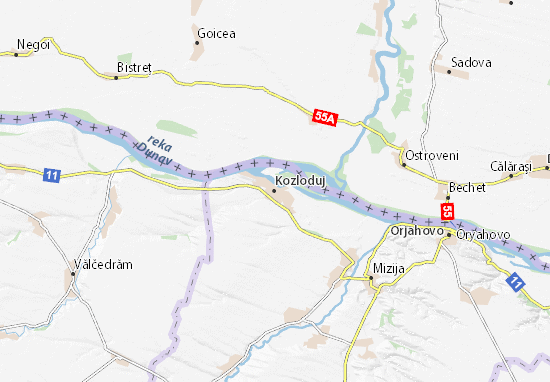 Kozloduj Map