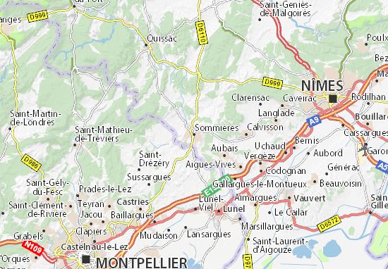 Sommières Map