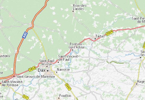 Pontonx-sur-l'Adour Map