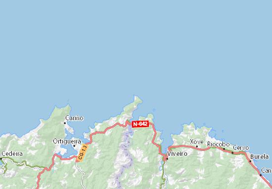 Estaca De Bares Mapa.Mapa Punta De La Estaca De Bares Plano Punta De La Estaca