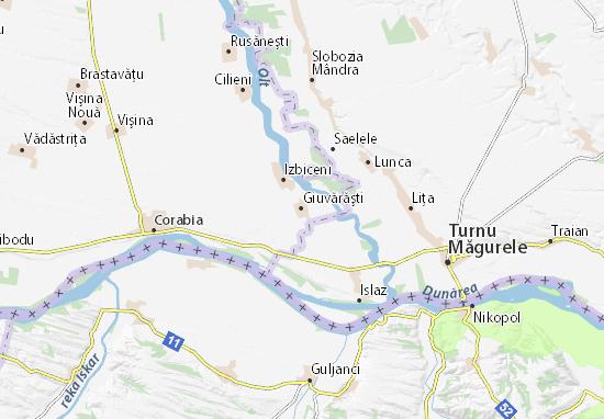 Giuvărăşti Map