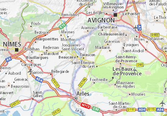 Carte-Plan Tarascon