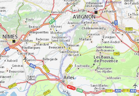Karte Stadtplan Tarascon