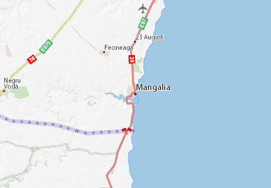 Karte Stadtplan Mangalia