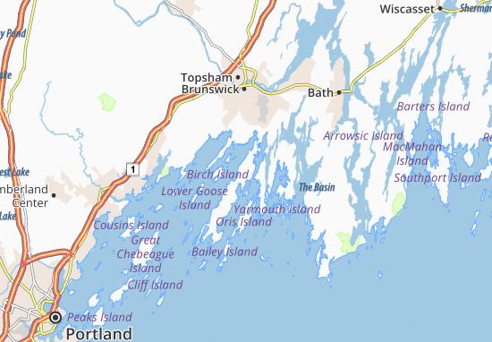 Mapas-Planos North Harpswell