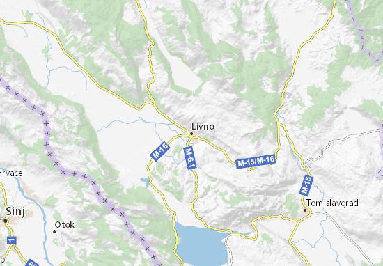 Kaart Plattegrond Livno