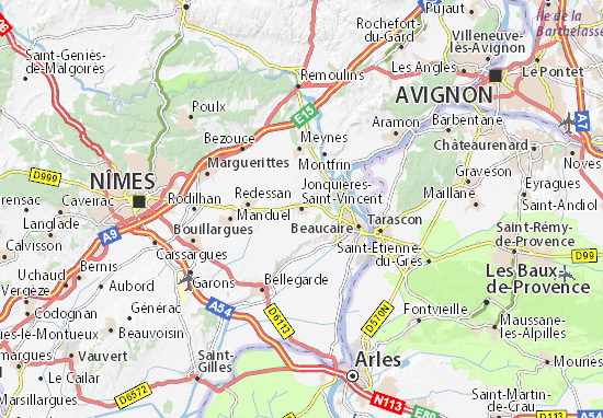 Carte-Plan Jonquières-Saint-Vincent