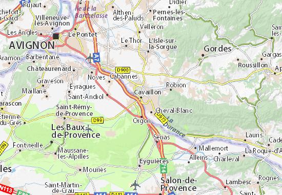 Kaart Plattegrond Cavaillon