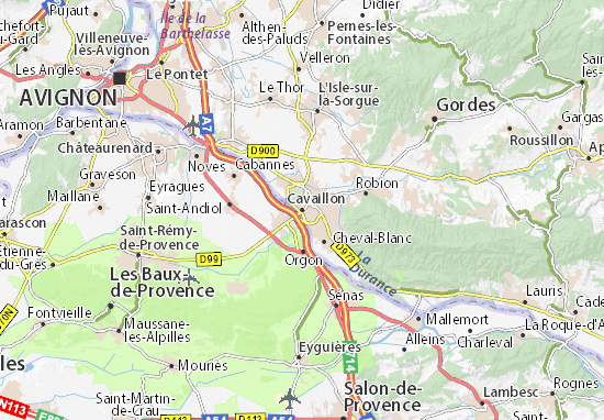 Mapa Plano Cavaillon