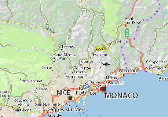 Carte-Plan Berre-les-Alpes