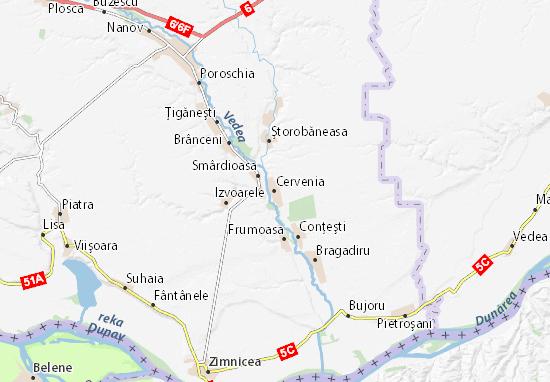 Cervenia Map