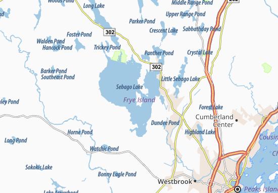 Mapas-Planos Frye Island