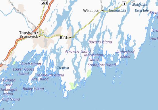 Arrowsic Map
