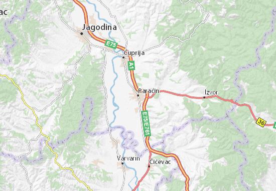 Paraćin Map