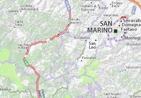 Sant'Agata Feltria Map