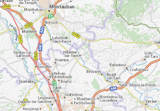 Carte-Plan Villemur-sur-Tarn
