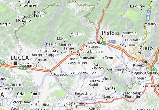 Carte-Plan Monsummano Terme