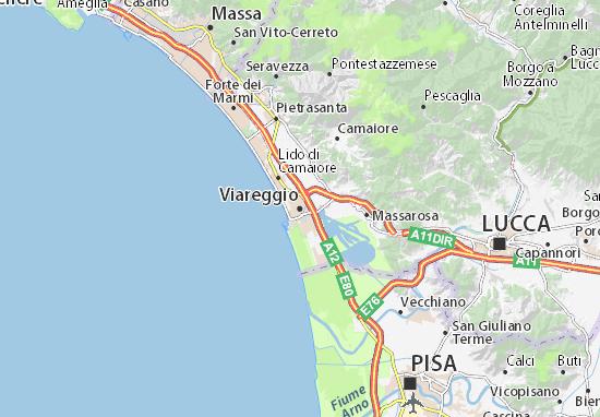 Viareggio Map