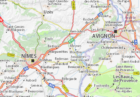 Kaart Plattegrond Meynes
