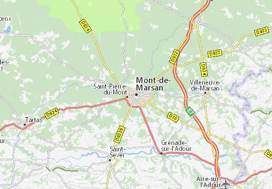 carte mont de marsan Carte détaillée Mont de Marsan   plan Mont de Marsan   ViaMichelin