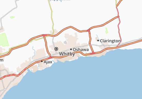 Carte-Plan Oshawa