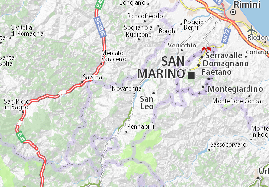 Novafeltria Map