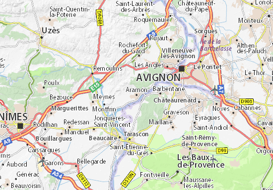 Carte-Plan Aramon