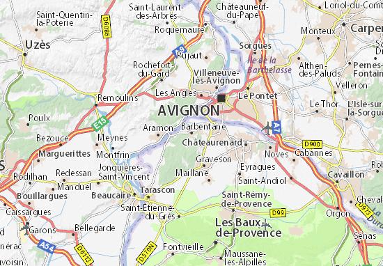 Barbentane Map